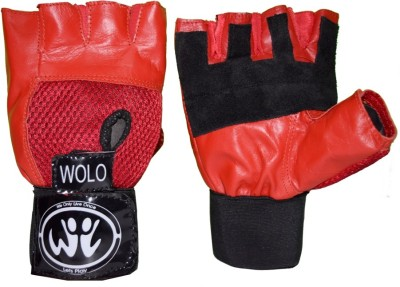 Wolo Influence Gym & Fitness Gloves (Free Size, Red)
