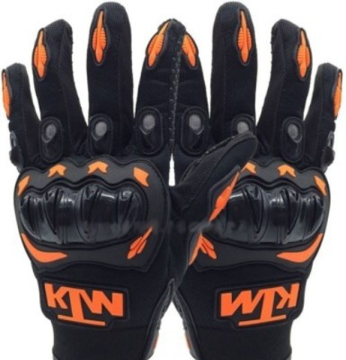 Bike World KTM Xtandard Upbeat Driving Gloves (XL, Black, Orange)