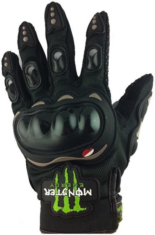 Monster Biker Driving Gloves (XL, Black)