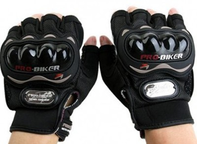 Pro Biker Pro Biker Half Cut Gloves Black L Size Driving Gloves (L, Black)
