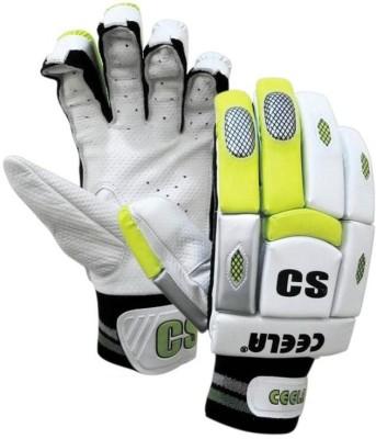 Ceela Premier Batting Gloves (M, White, Green)