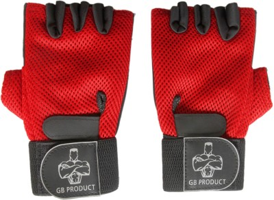 GB TOP GRADE Gym & Fitness Gloves (Free Size, Red)