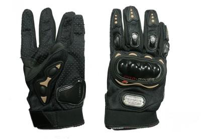 Pro Biker Riding Driving Gloves (M, Black)