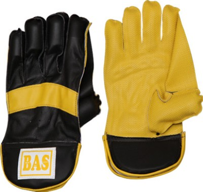 BAS Vampire Magnum Wicket Keeping Gloves (L, Black, Yellow)