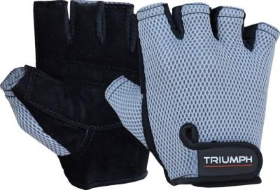 Triumph Premier Black Gym & Fitness Gloves (L, Black)