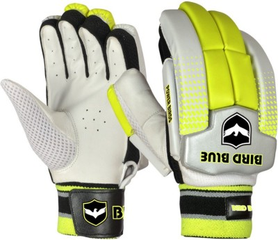 Birdblue Power Bird Batting Gloves (Men, White, Yellow)