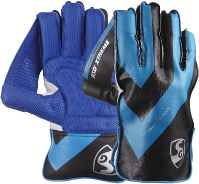 SG RSD Xtreme Wicket Keeping Gloves (Men, Blue, Black)