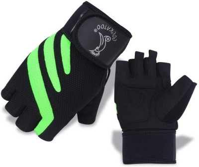 Cockatoo WLG011-Green Gym & Fitness Gloves (XL, Multicolor)