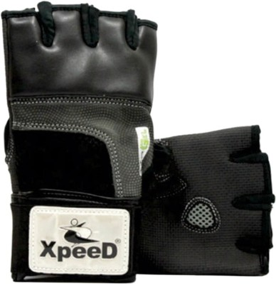 Xpeed Pro Handwraps Gym & Fitness Gloves (Free Size, Black)