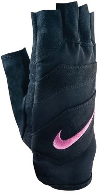 Nike Women's Vent Tech Training Gym & Fitness Gloves (M, Black, Pink)