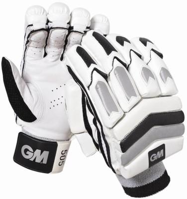 GM 505 Batting Gloves (Men, White, Black)