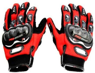 MR Trading Pro Biker Driving Gloves (XL, Red)