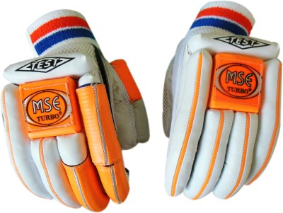 Turbo MSE TEST LITE Batting Gloves (Men, White, Orange)