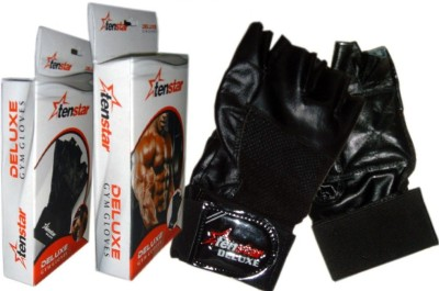 Tenstar Deluxe Gym & Fitness Gloves (Free Size, Multicolor)