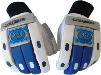 Turbo MSE MATCH LITE Batting Gloves (Men, White, Blue)