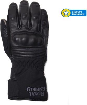 Royal Enfield GLS150005-Black Riding Gloves (XL, Black)