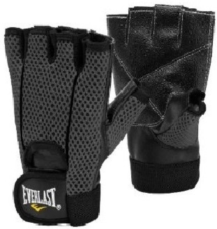 Everlast Ross Weightlifting Gym & Fitness Gloves (L, Black)