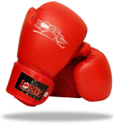 Lordz Pro Style Competition Boxing Gloves (S, Red)