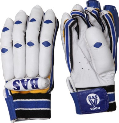 BAS Vampire V2000 Batting Gloves (L, White, Blue)