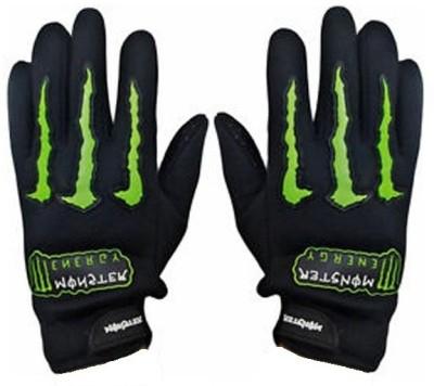 Monster Bike Driving Gloves (XL, Black, Green)