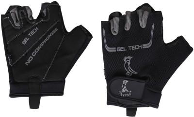 Cockatoo Gel Tech Gym & Fitness Gloves (Free Size, Black)