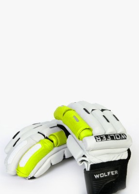 Wolfer Player Edition (Left Hand) Batting Gloves (Men, Green, White)