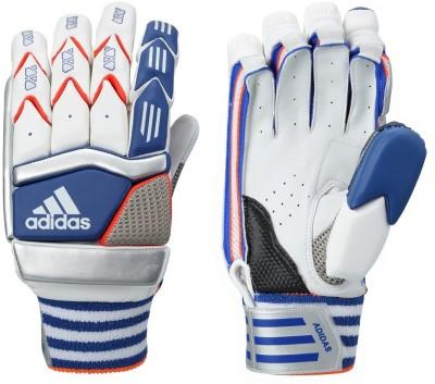 Adidas BG ELITE V1 16 Batting Gloves (M, White, Blue, Red)