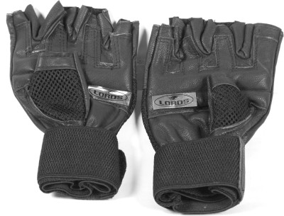 Lord's SUPER BLACK VELCRO GLOVES Riding Gloves (Free Size, Black)