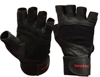 Omtex Pro Gym & Fitness Gloves (S, Black)