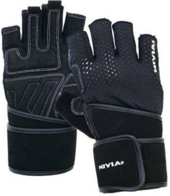 Nivia Snipper 982 Gym & Fitness Gloves (S, Black)