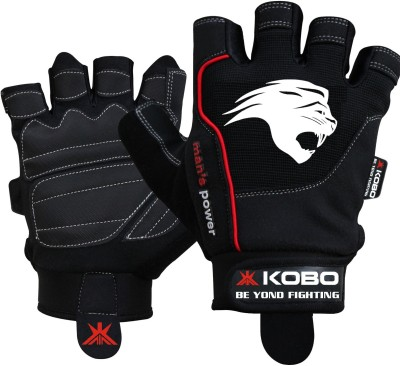 Kobo Gel Gym & Fitness Gloves (S, Black)
