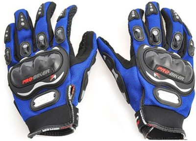 Pro Biker Full Figer Riding Gloves (XXL, Blue)