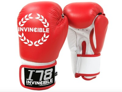 Invincible Competition Gloves Boxing Gloves (Men, Red)