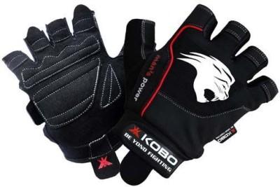 Kobo Gel Gym & Fitness Gloves (L, Black)