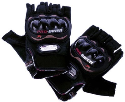 Enfieldworks for bikes Riding Gloves (Free Size, Black)