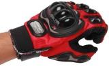 Pro Biker Riding Gloves (XL, Red, Black)