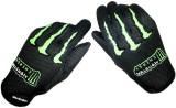 Monster Biker Riding Gloves (L, Black, G...