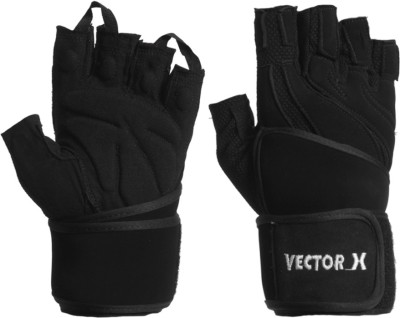 Vector X VX-2000 Gym & Fitness Gloves (M, Black)