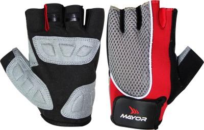 Mayor Amazonia Gym & Fitness Gloves (S, Red, Black)