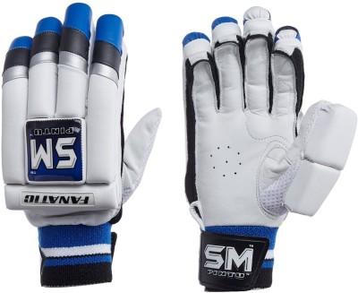 SM Fanatic Batting Gloves (Men, White, Multicolor)