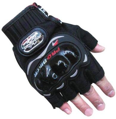 Pro Biker Half Cut Riding Gloves (XL, Black)