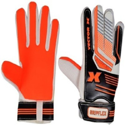 Vector X Gripflex Goalkeeping Gloves (XL, White, Black, Orange)