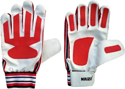 Maizo Match (Assorted) Football Gloves (M, White, Red)