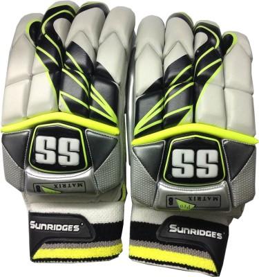 SS Matrix Batting Gloves (Men, Yellow, Silver)