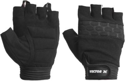 Vector X VX-600 Gym & Fitness Gloves (L, Black)
