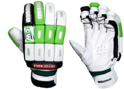 CW Millennium Batting Gloves (Men, Green, White)