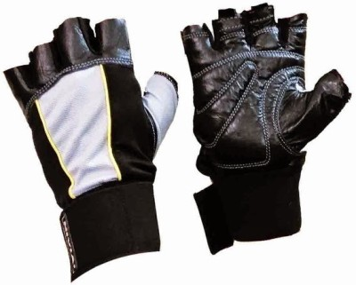 Nivia Leather with Strap (Assorted) Gym & Fitness Gloves (M, Multicolor)