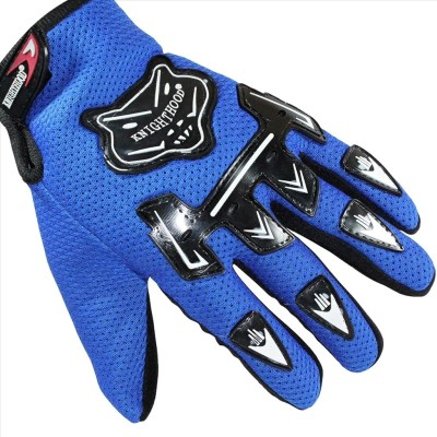 Knighthood 1 Pair of Hand Grip for Bike Motorcycle Scooter Riding - Blue Colour Driving Gloves (L, Multicolor)