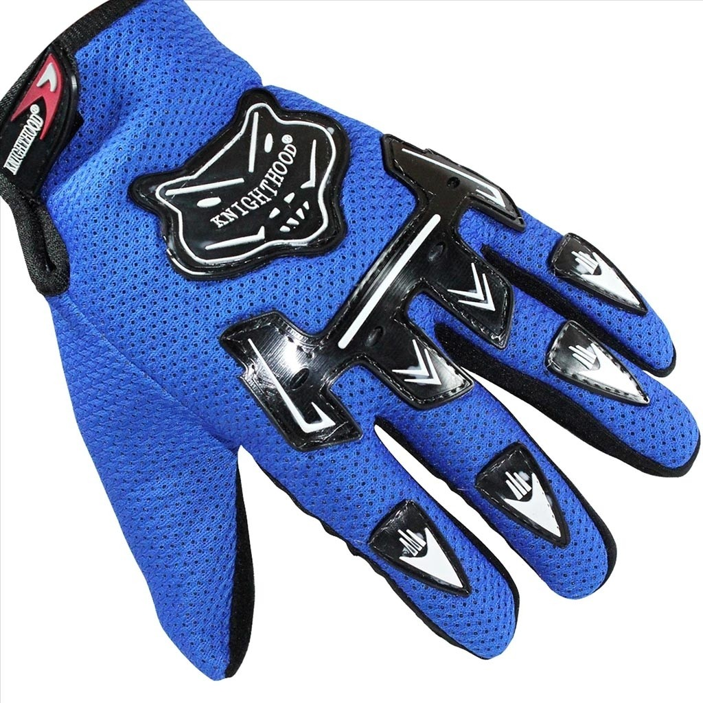 Driving gloves grip - Knighthood 1 Pair Of Hand Grip For Bike Motorcycle Scooter Riding Blue Colour Driving Gloves