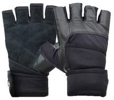 Nivia Prowrap Gym & Fitness Gloves (Free Size, Black)